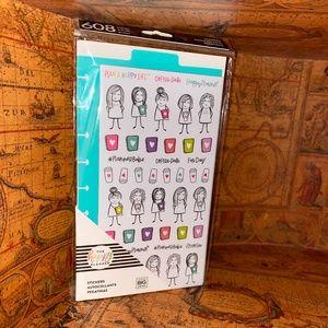 The Happy Planner Stick Figure Girls Sticker